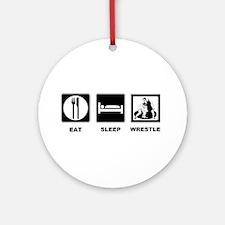 Eat Sleep Wrestle Ornament (Round)
