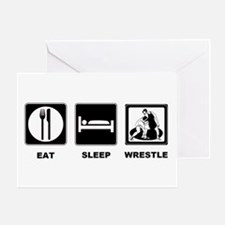 Eat Sleep Wrestle Greeting Card