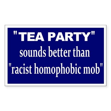 anti-tea Sticker (Rectangle)