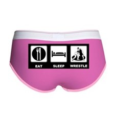 Eat Sleep Wrestle Women's Boy Brief