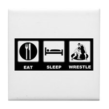 Eat Sleep Wrestle Tile Coaster