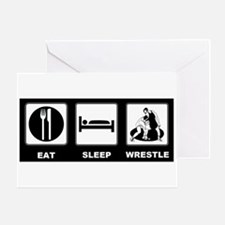 Eat Sleep Wrestle Greeting Card