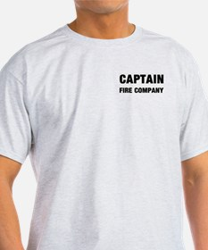 Captain of The Fire Company Ash Grey T-Shirt