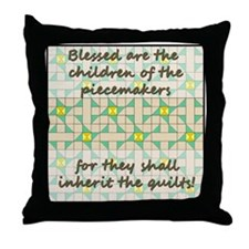 Blessed Are The Children of t Throw Pillow