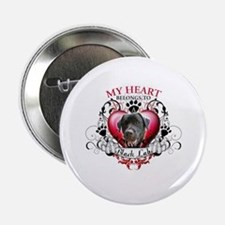 """My Heart Belongs to a Black Lab 2.25"""" Button"""