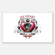 My Heart Belongs to a Black Lab Decal