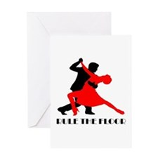 Rule the floor Greeting Cards