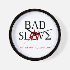 Bad Slave Wall Clock