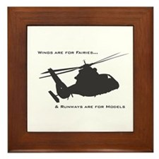Cute Helicopters Framed Tile