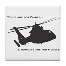 Cute Bell helicopter Tile Coaster