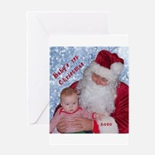 Redhead Baby's First Christmas Greeting Card
