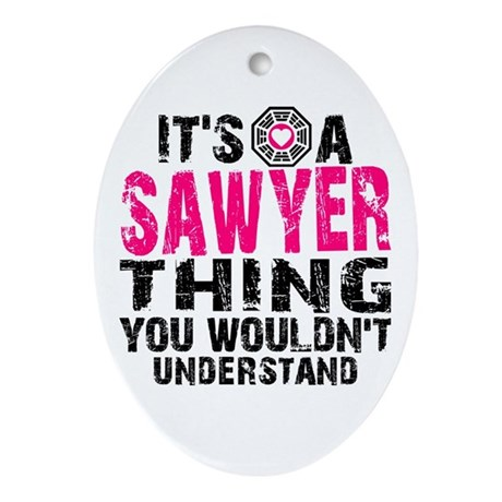 Sawyer Thing Ornament (Oval)