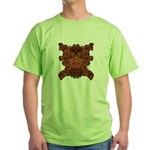 Purple Skull Green T-Shirt