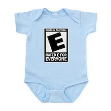 Fantasy Football Rated E Infant Bodysuit