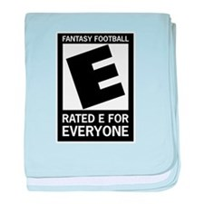 Fantasy Football Rated E baby blanket