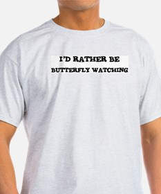 Rather be Butterfly Watching Ash Grey T-Shirt