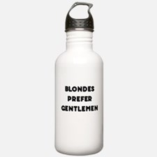 Blondes Prefer Gentlemen Water Bottle
