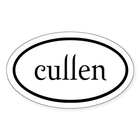 Cullen Euro by twibaby Sticker (Oval)