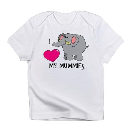I Love My Mummies Elephant Infant T-Shirt