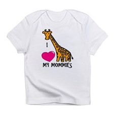 I Love My Mommies Giraffe Infant T-Shirt
