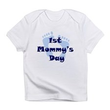 1st Mommy's Day - Blue Feet - Infant T-Shirt