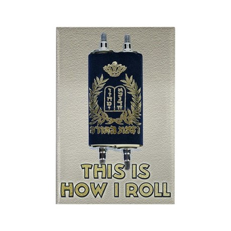 Jewish How I Roll Rectangle Magnet