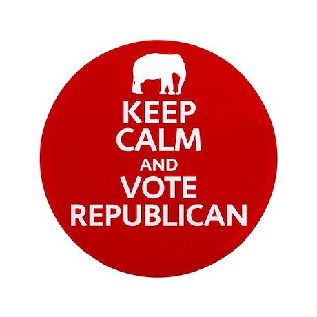 """Keep Calm Republican 3.5"""" Button (100 pack)"""