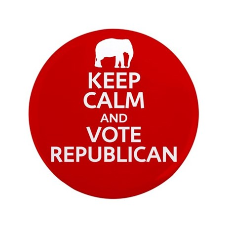 "Keep Calm Republican 3.5"" Button"