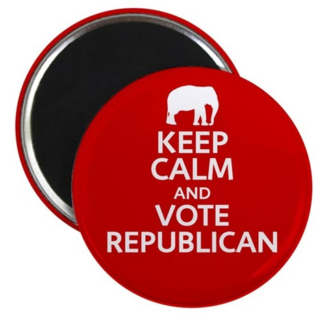 "Keep Calm Republican 2.25"" Magnet (10 pack)"