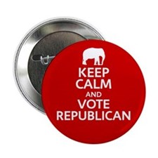 "Keep Calm Republican 2.25"" Button"