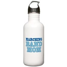 Blue Marching Band Mom Sports Water Bottle