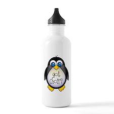 Cute Penguin Choir Sports Water Bottle