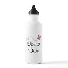 Cute Opera Diva Sports Water Bottle