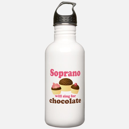 Chocolate Soprano Sports Water Bottle
