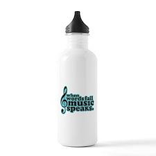 Popular Music Speaks Sports Water Bottle