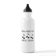 Words Fail Music Speaks Sports Water Bottle
