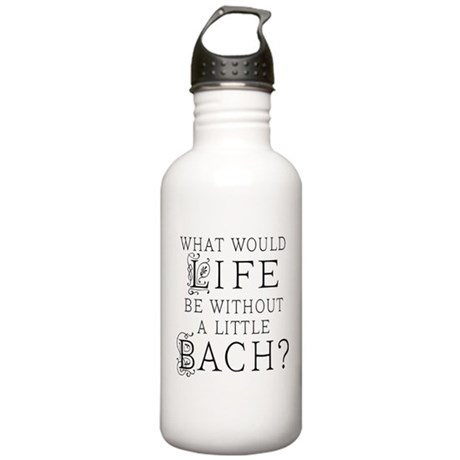 Fun Bach Music Quote Stainless Water Bottle 1.0L
