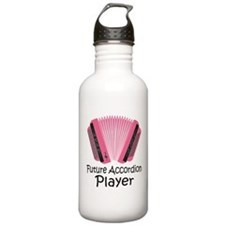 Future Accordion Player Sports Water Bottle