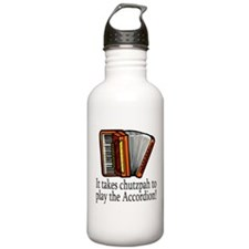 Accordion Player Sports Water Bottle