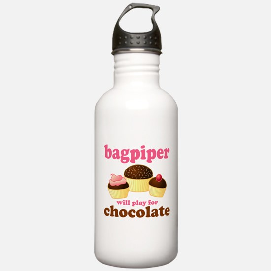 Chocolate Bagpiper Sports Water Bottle