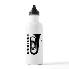 Music Silhouette Baritone Sports Water Bottle