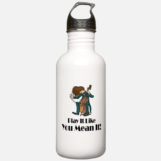 Play The Cello Water Bottle