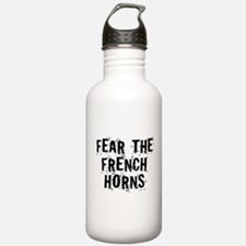 Fear The French Horns Water Bottle