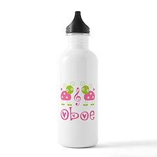 Ladybug Oboe Music Water Bottle