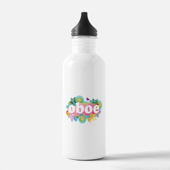 Retro Burst Oboe Sports Water Bottle