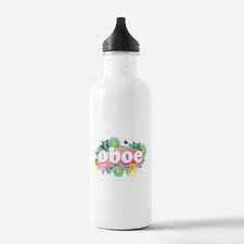 Retro Burst Oboe Water Bottle