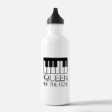 Piano Queen Of Keys Sports Water Bottle
