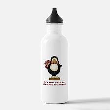 Funny Penguin Trumpet Water Bottle