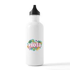 Retro Burst Viola Water Bottle