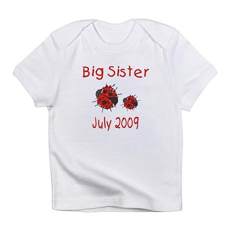 Big Sister Ladybugs July 2009 Infant T-Shirt